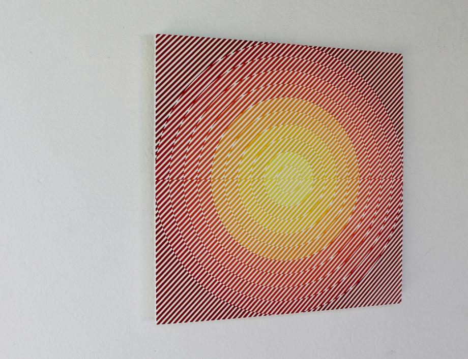 VY CMa de Neón - 50x50 cm Izquierda I