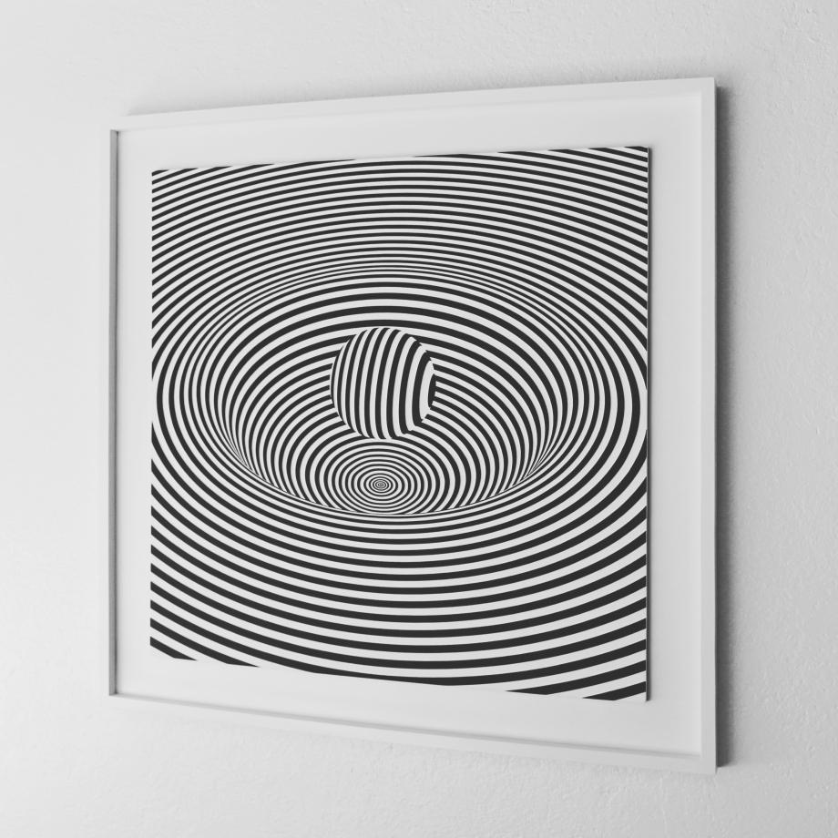Curvatura del Espacio-Tiempo - 90x90 cm Derecha