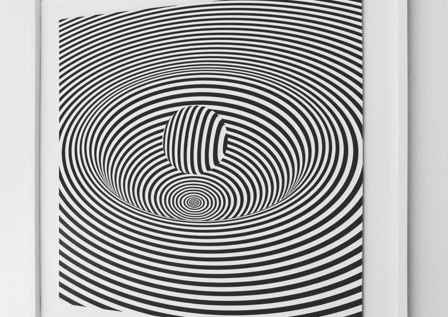 Curvatura del Espacio-Tiempo - 90x90 cm Detalle Derecha