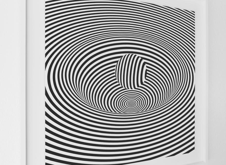 Curvatura del Espacio-Tiempo - 90x90 cm Detalle Izquierda