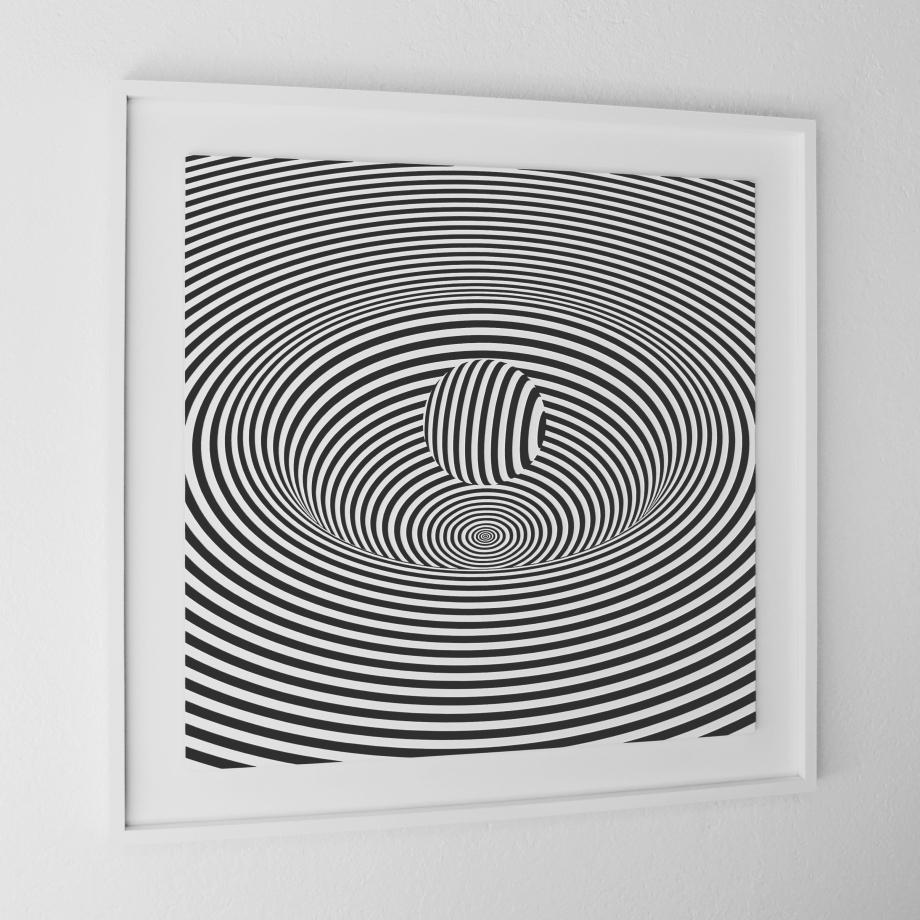Curvatura del Espacio-Tiempo - 90x90 cm Izquierda