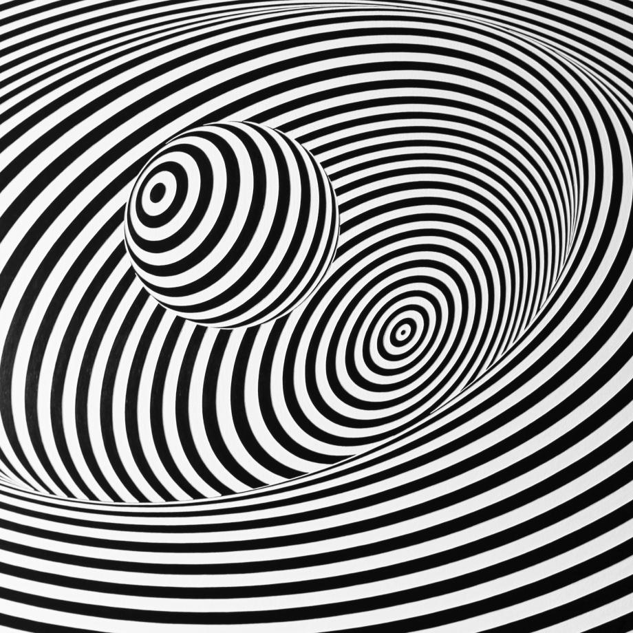 Curvatura del Espacio-Tiempo – 100x100 cm